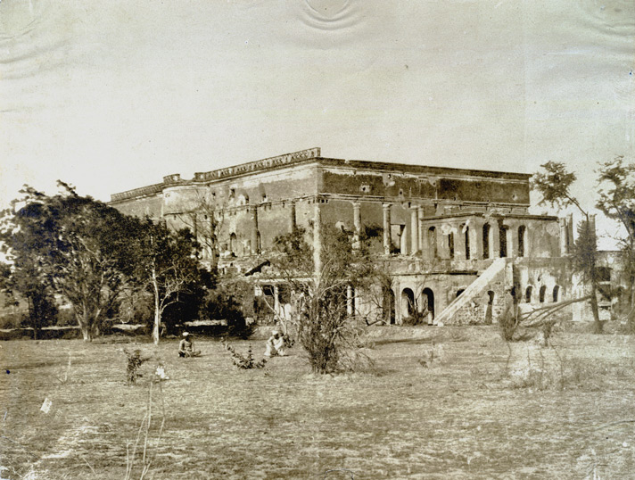 Metcalfe's House after being battered in the 1857 Uprising